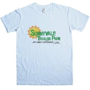 DTG Printed Sunnyvale Trailer Park T Shirt For Men