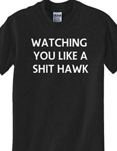 Black T-Shirt Like A Hawk