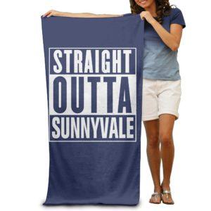 Beach Towel - Straight Outta Sunnyvale For Adults - Vibrant Color 80cm X 130cm