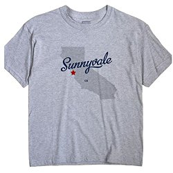 Sunnyvale California Souvenir T Shirt CA MAP GreatCitees