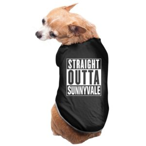 Sunnyvale Doggie Tank Top Black Slim Fit Version