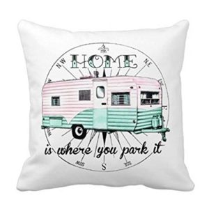 Throw Pillow Cover From Trailer Park Boys Series - Vintage Trailer Home