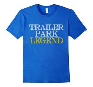 Trailer Park Legend Tee Shirt For Youth - Sparkling Blue