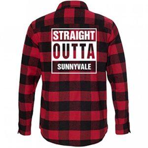 Straight Outta SUNNYVALE Flannel: Unisex Burnside Long Sleeve Flannel Shirt