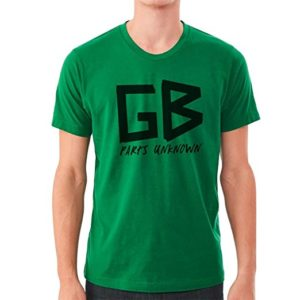 gb parts unknown green t shirt