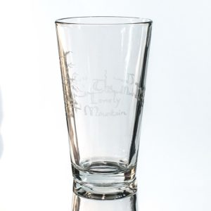 The Lonely Mountain Beer Mug - 16oz Glass