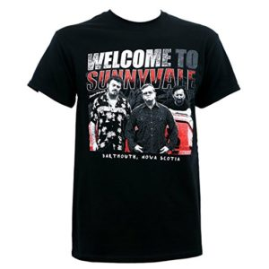Welcome to Sunnyvale T-Shirt Black-Screen Printed Graphics-Trailer Park Boys Shirt