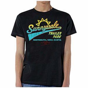 Sunnyvale Trailer Park T-Shirt For Men – Black Shade Cotton Tee