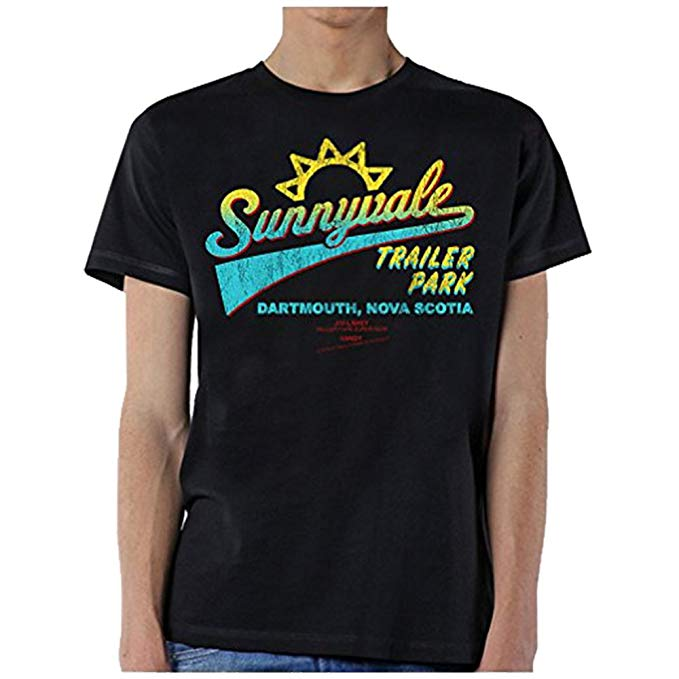 Sunnyvale Trailer Park T-Shirt For Men – Black Shade Cotton Tee