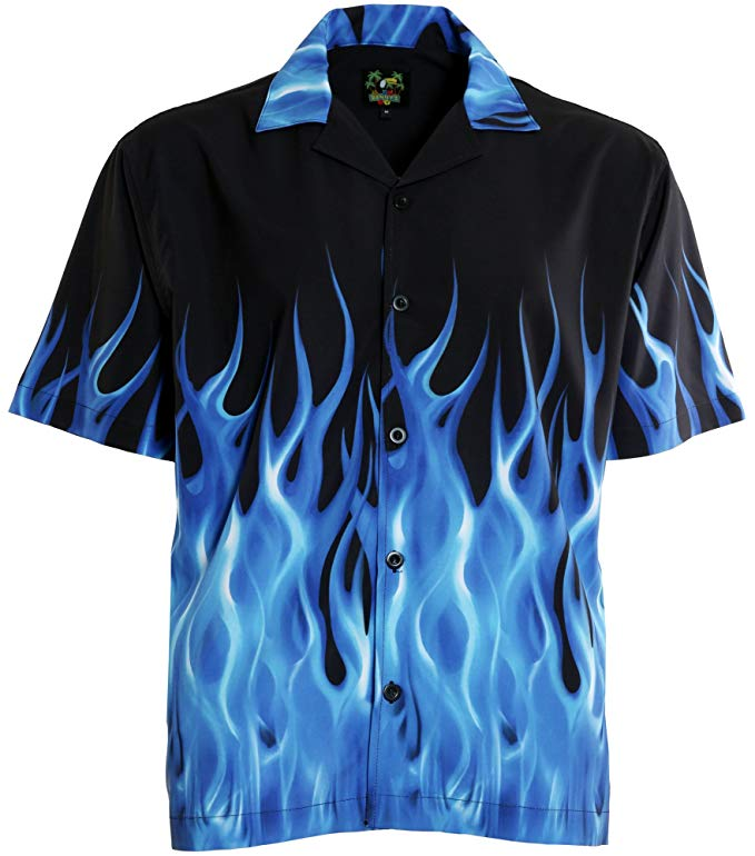 ricky flame shirt blue