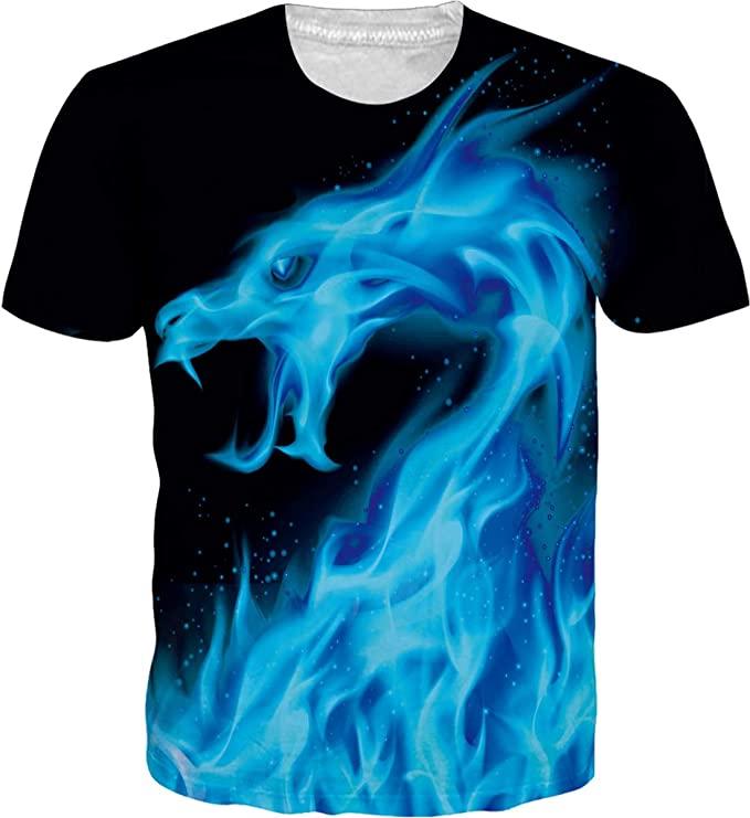 trailer park boys dragon shirt blue