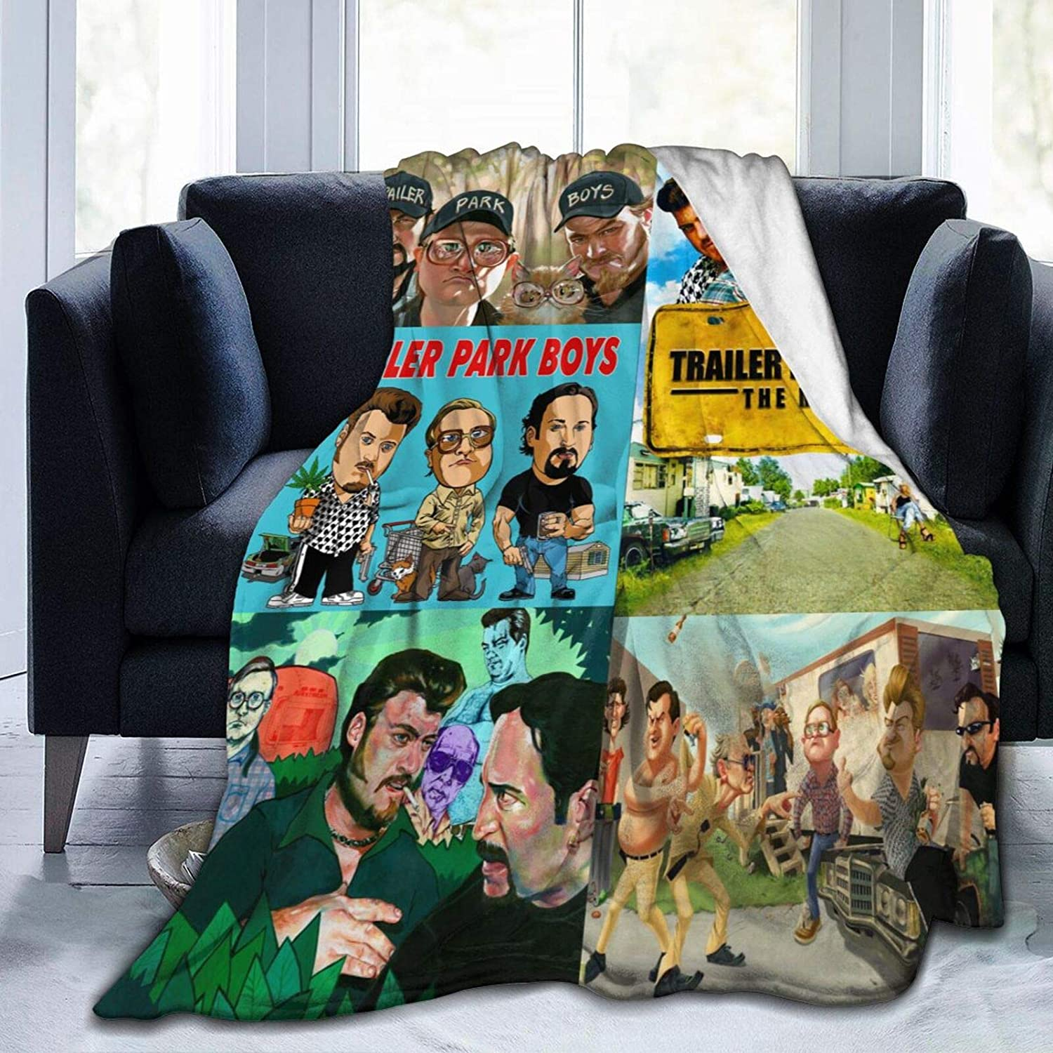 Ultra Soft Fleece Trailer Park Boys Throw Blanket - Picturing The Boys On Your Couch